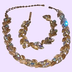 Unsigned Lisner Neckacle and Bracelet Set