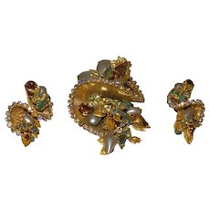 Original By Robert Brooch and Earring Set