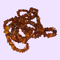 Long Single Strand of Baltic Amber Chips