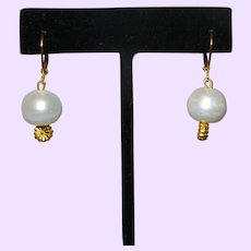 Cultured Baroque Pearl Drop