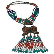 Clearance - Four Strand Tibetan Ethnic Nepal Necklace