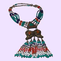 Four Strand Tibetan Ethnic Nepal Necklace