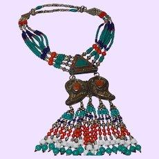 Four Strand Tibetan Ethnic Nepal Necklace