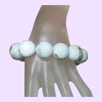 Burmese Jadeite Bead Bracelet