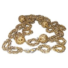 Vintage Gold Chain Necklace Marked 14K Gold Plate