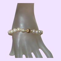 Cultured Pearl Bracelet with 14KYG Clasp