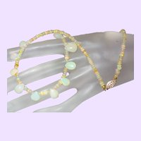 Ethiopian Opal Briolette Necklace