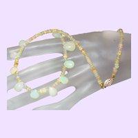 Ethiopian Opal Briolette Necklace