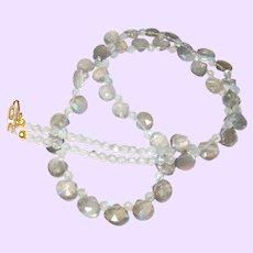 Labradorite Briolette Necklace with 14 Karat Gold Filled Clasp