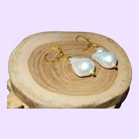 Cultured Baroque Free Form Pearl Earring
