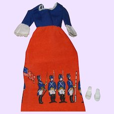 Barbie Dress # 9158 with White Mules Marked japan