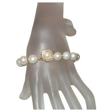 Classic Cultured Pearl Bracelet with 14K Gold Filled Findings