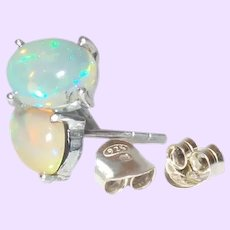 Ethiopian Opals Stud earrings in Sterling