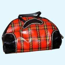 Barbie Red Plaid Bag Winter Holiday, #975