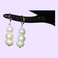 Cultured Baroque Pearl Earring Dangle