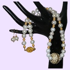 Baroque Pearl Necklace with Pendant