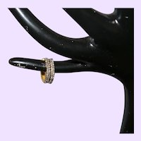 Diamond Hoop Earrings in 14 Karat Gold Filled