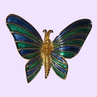 Signed Boucher Butterfly Brooch