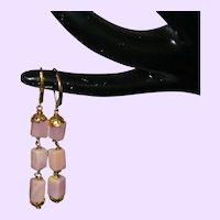 Pink Opal Dangle Earrings