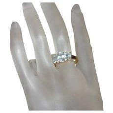 Three Stone Aquamarine Ring by Premier Design