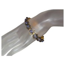 Estate Tanzanite and Brown Diamond Bracelet