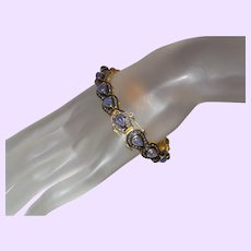 Estate Tanzanite and Brown Diamond Bracelet