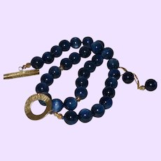 Kyanite Necklace with 1/20th 14 Karat Gold Filled Beads and Clasp