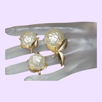 Sarah Coventry Baroque Faux Pearl Brooch Set