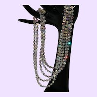 Five Strand Crystal Vendome Necklace