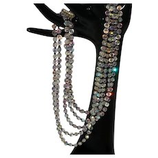 Five Strand Crystal Vendome Necklace