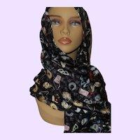 Barbie Ladies Silk Scarf By Nolan Miller