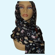 Barbie Ladies Silk Scarf By Nolan Miller