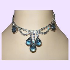 D&E Juliana Molded Glass and Crystal Necklace Set