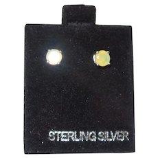 Ethiopian Opal Sterling Silver Stud Earrings
