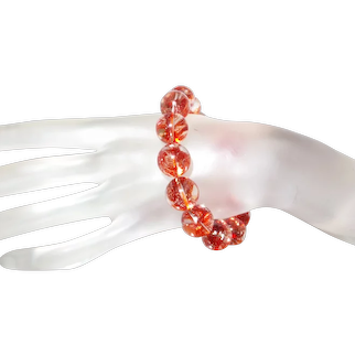 Rare Red Phantom Natural Quartz Bracelet