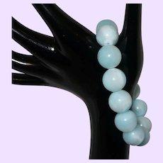 Large Bead Hemimorphite Stretch Bracelet
