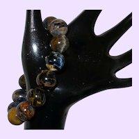 Natural Pietersite Beaded Stretch Bracelet
