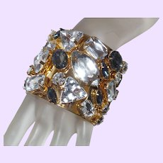 Large Rhinestone Cuff Bracelet