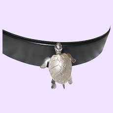 Sterling Silver Sea Turtle Pendant with Chain