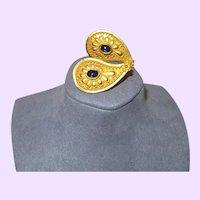 22 KYG Sapphire Cabochon Dangle Stud Earrings