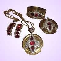 Vintage Signed McClelland Barclay Necklace Brooch and Bracelet