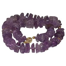Ametrine Rondelle Necklace With 14KY Gold Clasp Marked 1/20th
