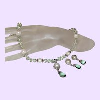 Bali Cultured Mabe' Pearl Pendant with Green Amethyst