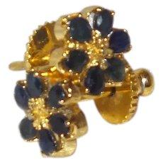 Sapphire Cluster Stud Earring