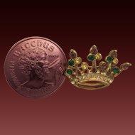 Vintage Mardi Gras Krewe Favor Crown Brooch