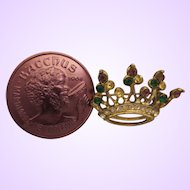 Vintage Mardi Gras Krewe Favor Crown Brooch
