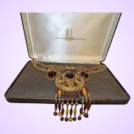Vintage Signed Hobe' Necklace and Earrings