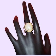 Vintage Sterling Silver and Agate Ring