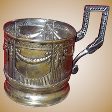 Two Vintage Silver Plate Cup Holders