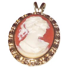 Victorian Revival Cameo Pendant in Profile